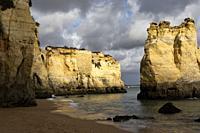 Atlantic Ocean coast near Lagos, Portugal.
