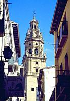 Tower of Santo Tomas church. Haro, La Rioja, Spain.