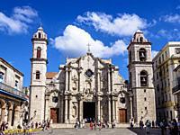 Cathedral of San Cristobal, Plaza de la Catedral, La Habana Vieja, Havana, La Habana Province, Cuba.