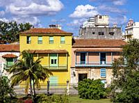 Colourful Architecture of La Habana Vieja, Havana, La Habana Province, Cuba.
