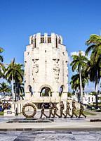 Changing of the Guard at Jose Marti Mausoleum, Santa Ifigenia Cemetery, Santiago de Cuba, Santiago de Cuba Province, Cuba.