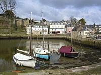 Scenery in a French city named Auray located in the Morbihan department in Brittany France