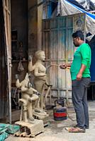 pottery district Kumartuli in Calcutta, India