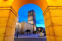Cathedral view from the town hall. Badajoz. Extremadura. Spain