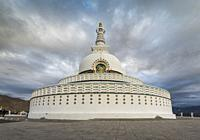 Modern Buddhist monument Shanti Stupa.