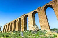Zaghouan Aqueduct or Aqueduct of Carthage. Tunisia, Africa.