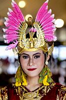 A Portrait Of A Traditional Javanese Dancer At The Sultanâ. . s Palace (The Kraton), Yogyakarta, Java, Indonesia.
