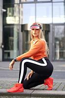woman wearing futuristic fashion style