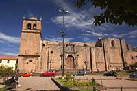 View to the Convento San Francisco Monastery at the historic center, Cusco, Peru, South America