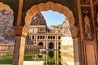 Galta Ji or Monkey Temple in Jaipur, the lower tank view.