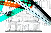 Interior design, technical drawing