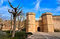 Royal Gate, Monastery of Santa Maria de Poblet, Tarragona province, Catalonia, Spain, Europe