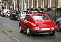 France, Arras. Vintage Porsche sportscar.