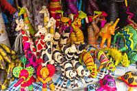 Sellling of souvenirs in Madagacar, Madagascar.