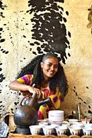 Ethiopia, Tigray, Aksum, Coffee ceremony.