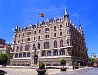 Casa Botines (museo Gaudí). León. Castilla León. España.