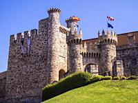 Castillo de Ponferrada. León. Castilla León. España.