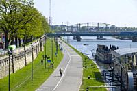 Vistula River Krakow Poland Europe EU.