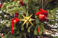 Star, Christmas decoration, Christmas tree.
