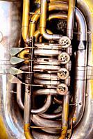 Detail of a Tuba. Celebration of Remedios in Castro Caldelas, Orense, Spain.