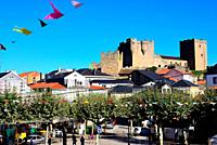 View of the castle in Castro Caldelas, Orense, Spain