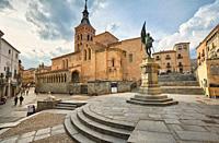 Medina del Campo square. Segovia. Castile and Leon. Spain.