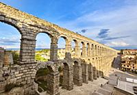 The Roman aqueduct. UNESCO World Heritage Site. Segovia. Castile and Leon. Spain.