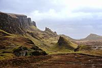 The Quiraing is a landslip on the eastern face of Meall na Suiramach, the northernmost summit of the Trotternish on the Isle of Skye, Scotland.