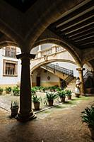 palacio de Can Oleza mandado construir por la familia Descos en el siglo XV, Monumento Historico-Artistico, Palma, mallorca, islas baleares, spain, eu...