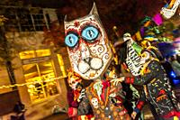 A symbolic mask at the Day of the Dead celebration, Birmingham, Alabama.