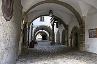 Rothenburg. Medieval town interior street.