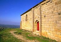 Romanesque church. Hinojosa de Duero, Salamanca province, Castilla Leon, Spain.