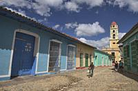 Tower of St. Francis of Assisi Convent and Church in UNESCO World Heritage Trinidad, Cuba.