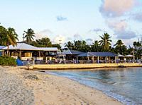 Pageant Beach and The Wharf Restaurant, George Town, Grand Cayman, Cayman Islands.