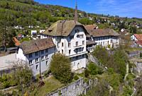 Carrouge Castle, Chateau de Carrouge, district Le Bourg, Moudon, canton of Vaud, Switzerland.
