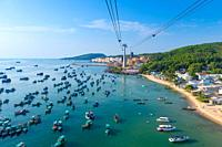 Panoramic View From Phu Quoc Island Cable Car.