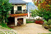 House and courtyard of Piornedo, Lugo, Spain