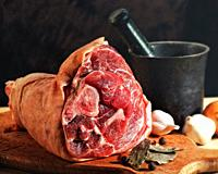 Fresh juicy ham. Abstract cuisine still life for your design.