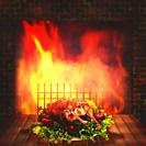 Grilled chicken. Abstract food backgrounds for your design.