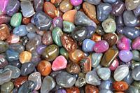 Colorful pebbles.