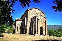 Santa Cristina de Lena is an Asturian pre-Romanesque church, built in the middle of the 9th century, Lena, Asturias, Spain