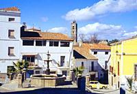 Altozano square. Montanchez. Caceres province. Extremadura. Spain.