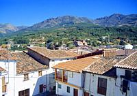Overview and landscape. Hervas, Caceres province, Extremadura, Spain.