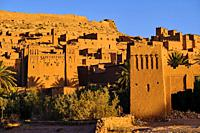 Maroc, Haut Atlas, Vallée du Dadès, Ksar d'Aït-Ben-Haddou, classé Patrimoine Mondial de l'UNESCO / Morocco, High Atlas, Dades Valley, Ksar of Ait-Ben-...