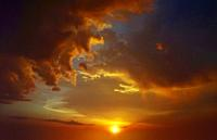 Dramatic sky, sunset