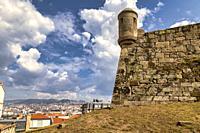 Fortaleza De San Sebastian in the mountain of Castro, Vigo, Pontevedra, Galicia, Spain.