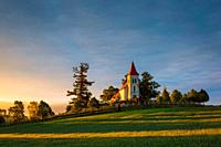 Gothic church and cemetery in Turiec region, Slovakia.