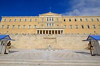 Old Royal Palace, house of Hellenic Parliament, Syntagma Square, Athens, Greece, Europe