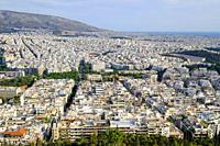Athens view from the top of Mount Lycabettus, Athens, Greece, Europe