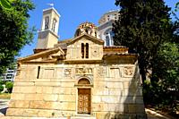 The Little Metropolis, the Church of St. Eleutherios, Athens, Greece, Europe